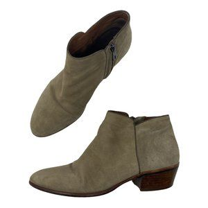 Sam Edelman Petty Tan Suede Western Ankle Boots